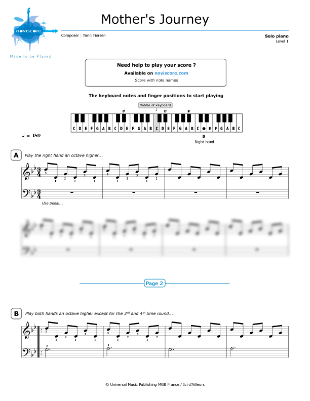 yann tiersen piano sheet music pdf