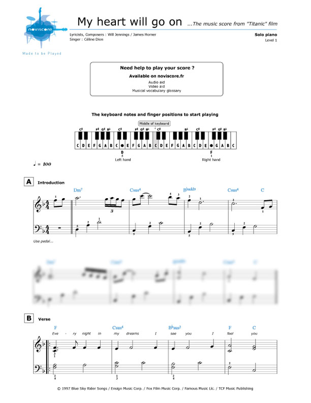 My Heart Will Go On Piano Sheet Music Pdf