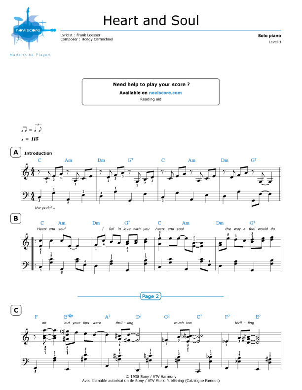 heart and soul piano score pdf