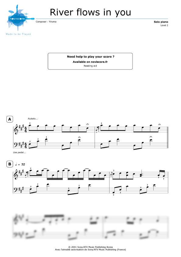 yiruma river flows in you sheet music pdf