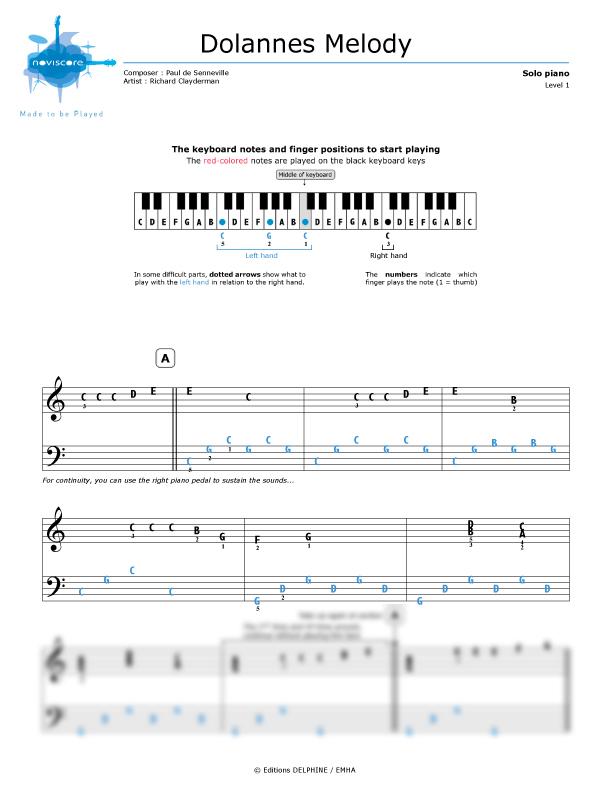 richard clayderman dolannes melody para