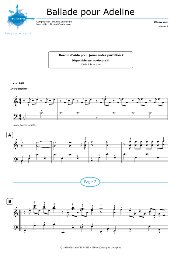 richard clayderman a comme amour sheet music pdf