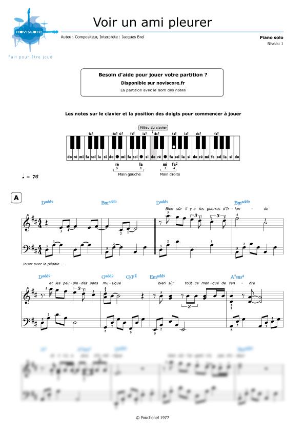 special piano Jacques brel