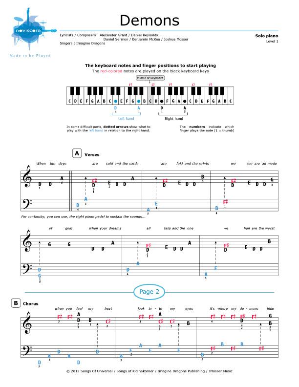 monster imagine dragons piano sheet music pdf