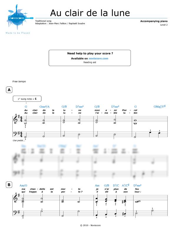 au clair de la lune piano pdf