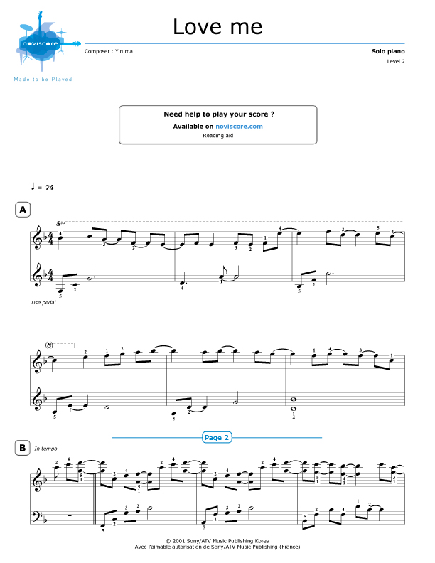 yiruma kiss the rain piano sheet music pdf