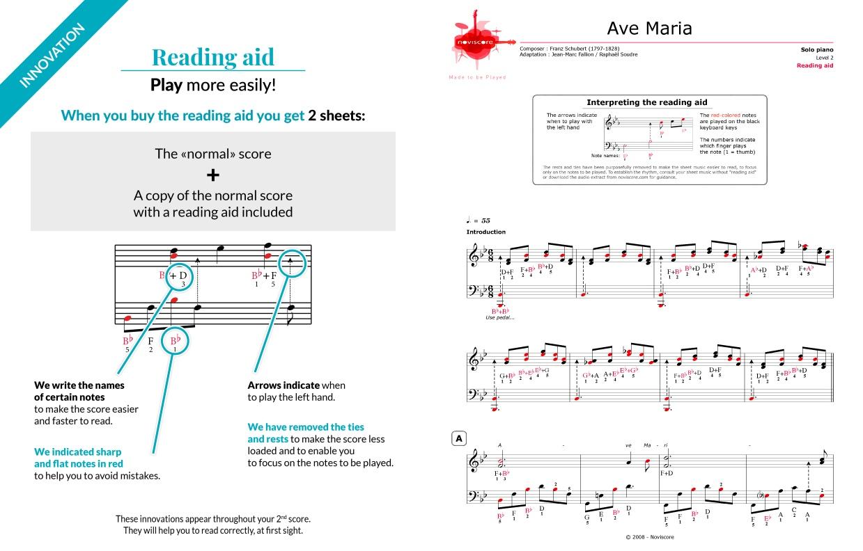 Piano sheet music Ave Maria (Franz Schubert) | Noviscore sheets