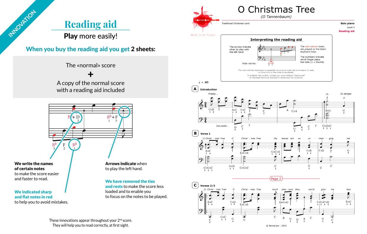 Piano Sheet Music O Christmas Tree (Chanson De Noël